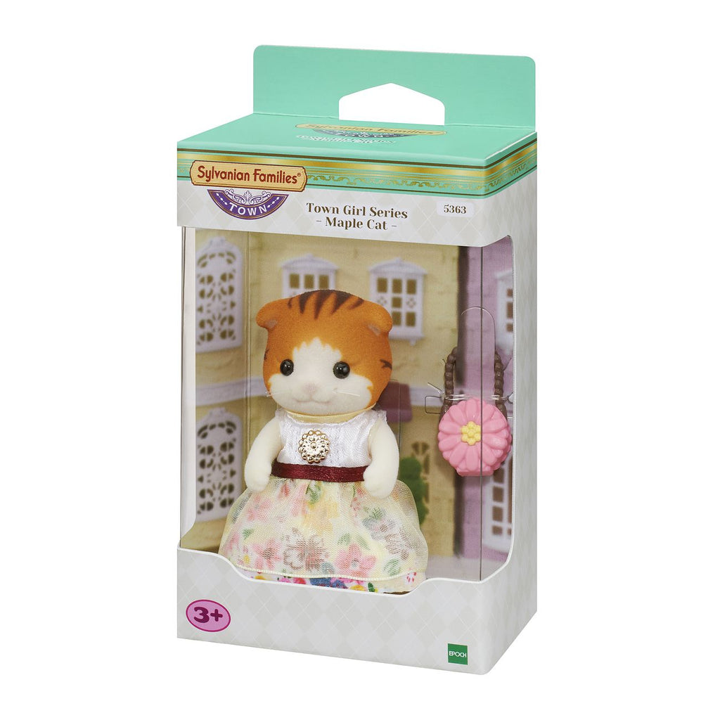 Sylvanian Families Town Girl Series Maple Cat - Toyworld