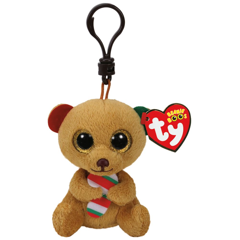 TY BEANIE BOOS CLIP ON BELLA THE BROWN BEAR - Toyworld NZ