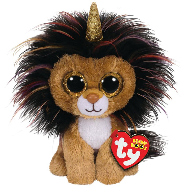 TY BEANIE BOOS RAMSEY THE LION WITH HORN