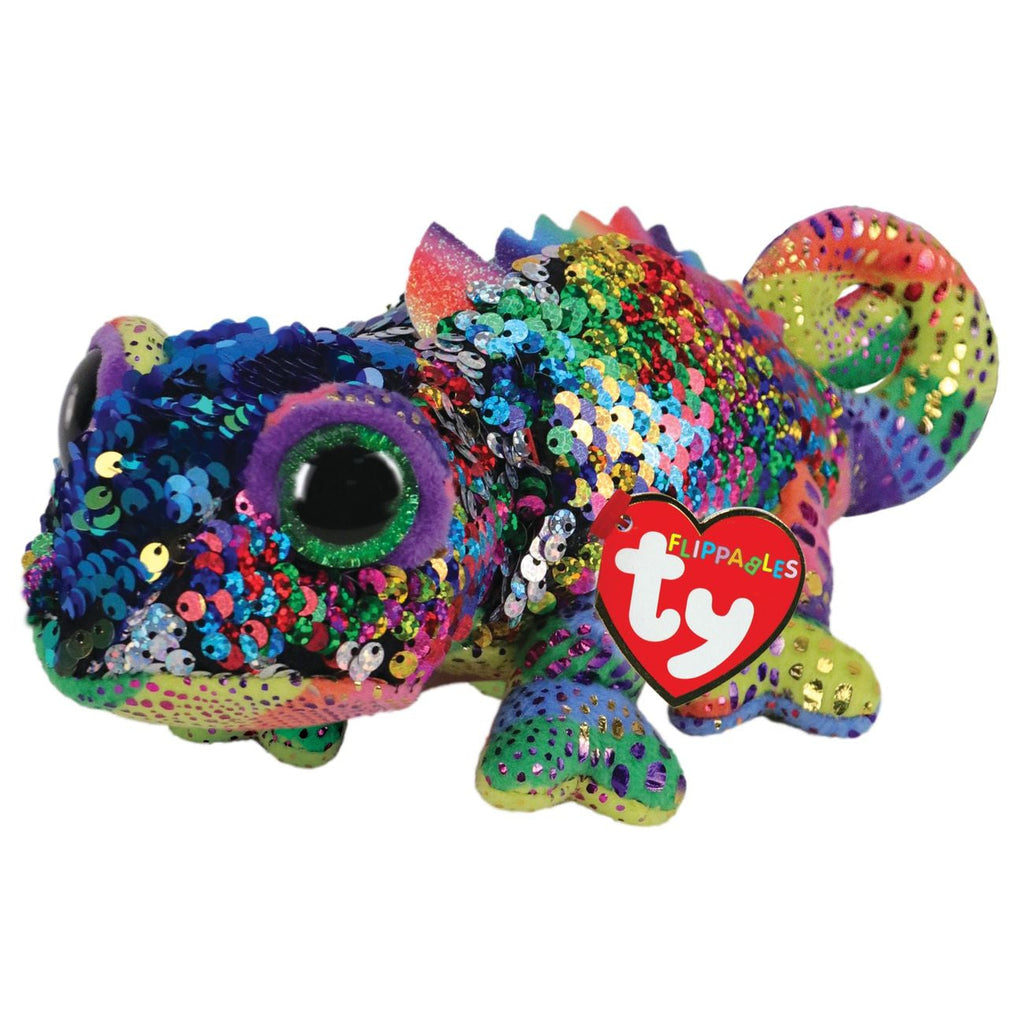 TY BEANIE BOOS FLIPPABLES KARMA THE MULTICOLOURED CHAMELEON - Toyworld NZ