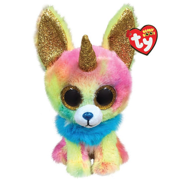TY BEANIE BOOS YIPS THE MULTICOLOURED CHIHUAHUA WITH HORN - Toyworld NZ