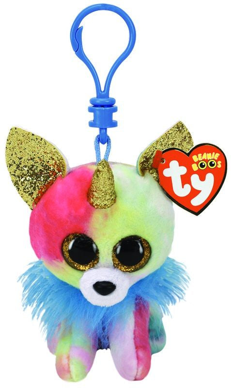 TY BEANIE BOOS CLIP ON YIPS THE MULTICOLOURED CHIHUAUA WITH HORN - Toyworld NZ