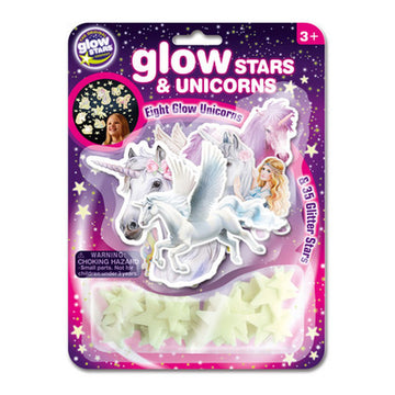 the Original Glow Stars 8 Unicorns & 35 Stars - Toyworld