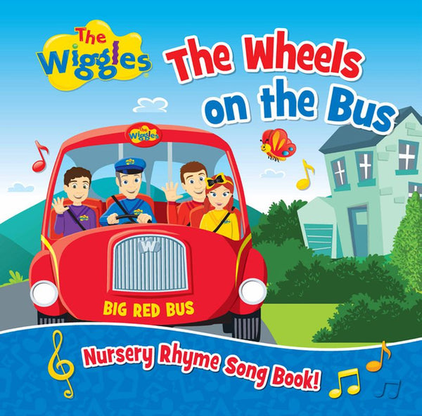 THE WIGGLES THE WHEELS ON THE BUS NURSERY RHYME SONG BOOK