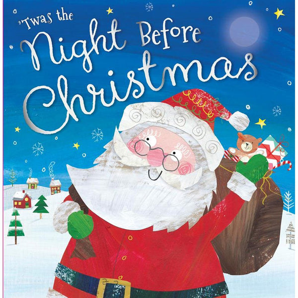 'TWAS THE NIGHT BEFORE CHRISTMAS PICTURE FLAT BOOK