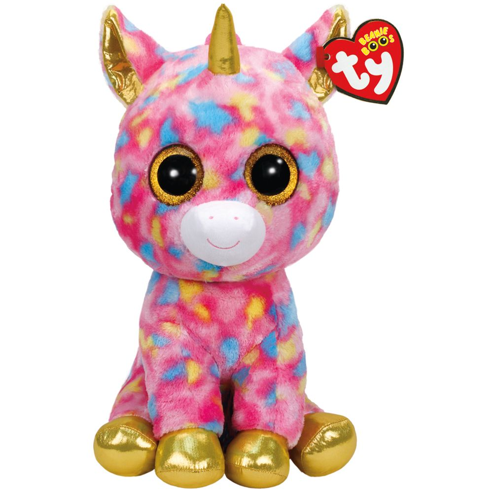 TY BEANIE BOOS FANTASIA THE UNICORN LARGE - Toyworld NZ