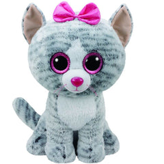 TY BEANIE BOOS KIKI THE GREY CAT LARGE - Toyworld NZ