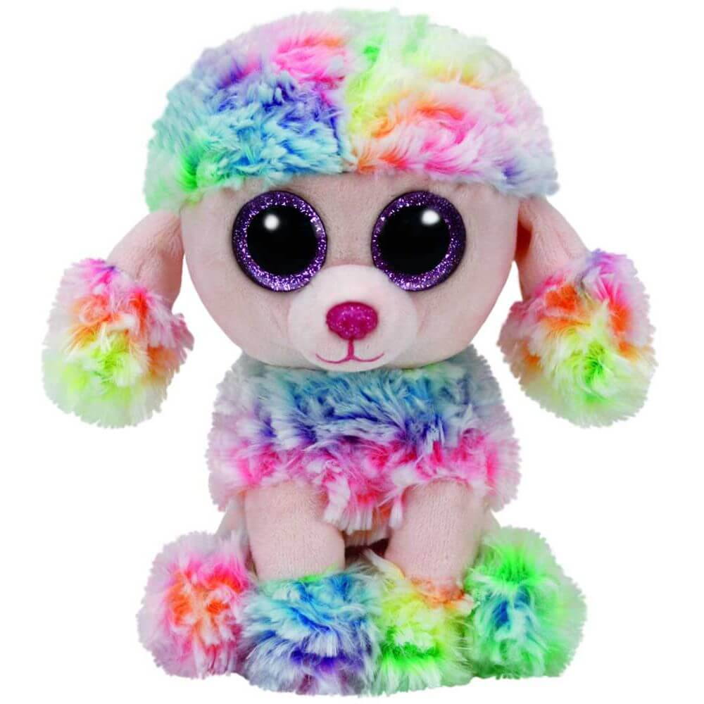 Ty Beanie Boos Rainbow the Multicoloured Poodle - Toyworld
