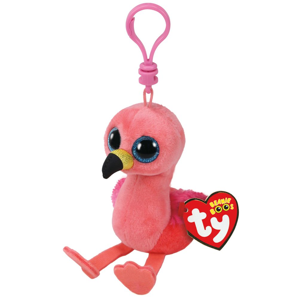 TY BEANIE BOOS CLIP ON GILDA THE PINK FLAMINGO - Toyworld NZ