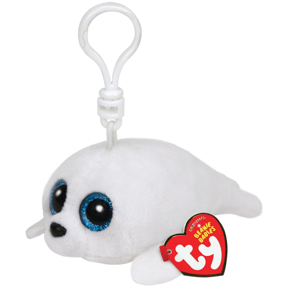 TY BEANIE BOOS CLIP ON ICY THE WHITE SEAL - Toyworld NZ