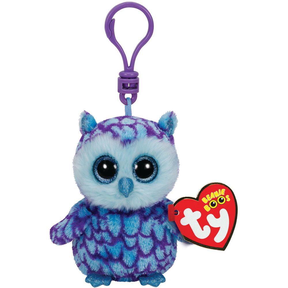 TY BEANIE BOOS CLIP ON OSCAR THE OWL - Toyworld NZ
