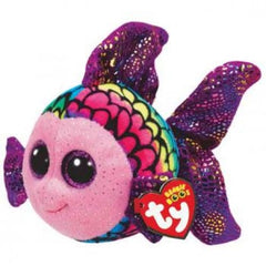 Ty Beanie Boos Flippy the Multicoloured Fish - Toyworld