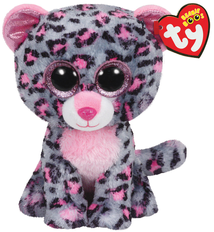 TY BEANIE BOOS TASHA THE LEOPARD MEDIUM