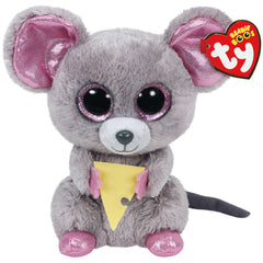 TY BEANIE BOOS SQUEAKER THE MOUSE W/CHEESE - Toyworld NZ
