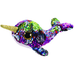 TY BEANIE BOOS FLIPPABLES CALYPSO THE NARWHAL - Toyworld NZ