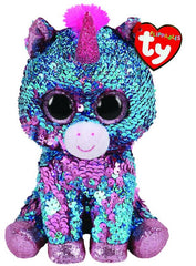 TY BEANIE BOOS FLIPPABLES CELESTE THE UNICORN MEDIUM - Toyworld NZ