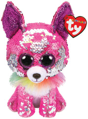 TY BEANIE BOOS FLIPPABLES CHARMED THE PINK CHIHUAHUA - Toyworld NZ