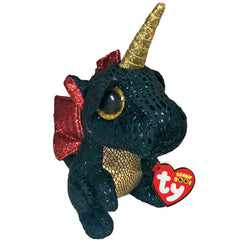 TY BEANIE BOOS FLIPPABLES GRINDAL THE DRAGON WITH HORN MEDIUM - Toyworld NZ