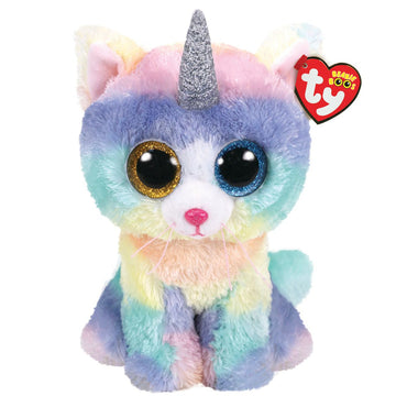 TY BEANIE BOOS HEATHER THE CAT WITH HORN LARGE - Toyworld NZ