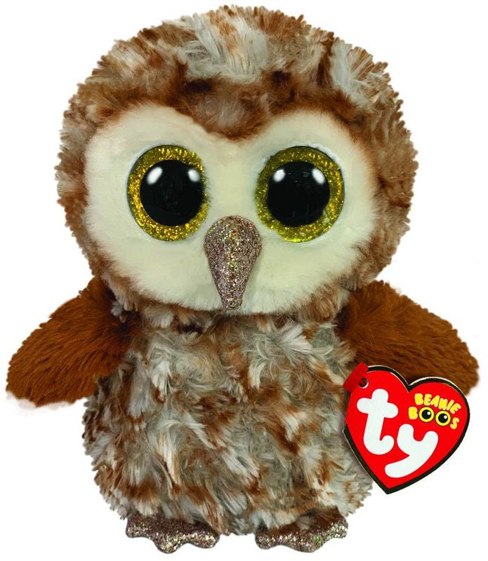 TY BEANIE BOOS PERCY THE OWL - Toyworld NZ