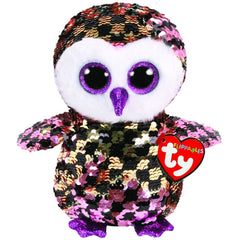 TY BEANIE BOOS FLIPPABLES CHECKS THE OWL - Toyworld NZ
