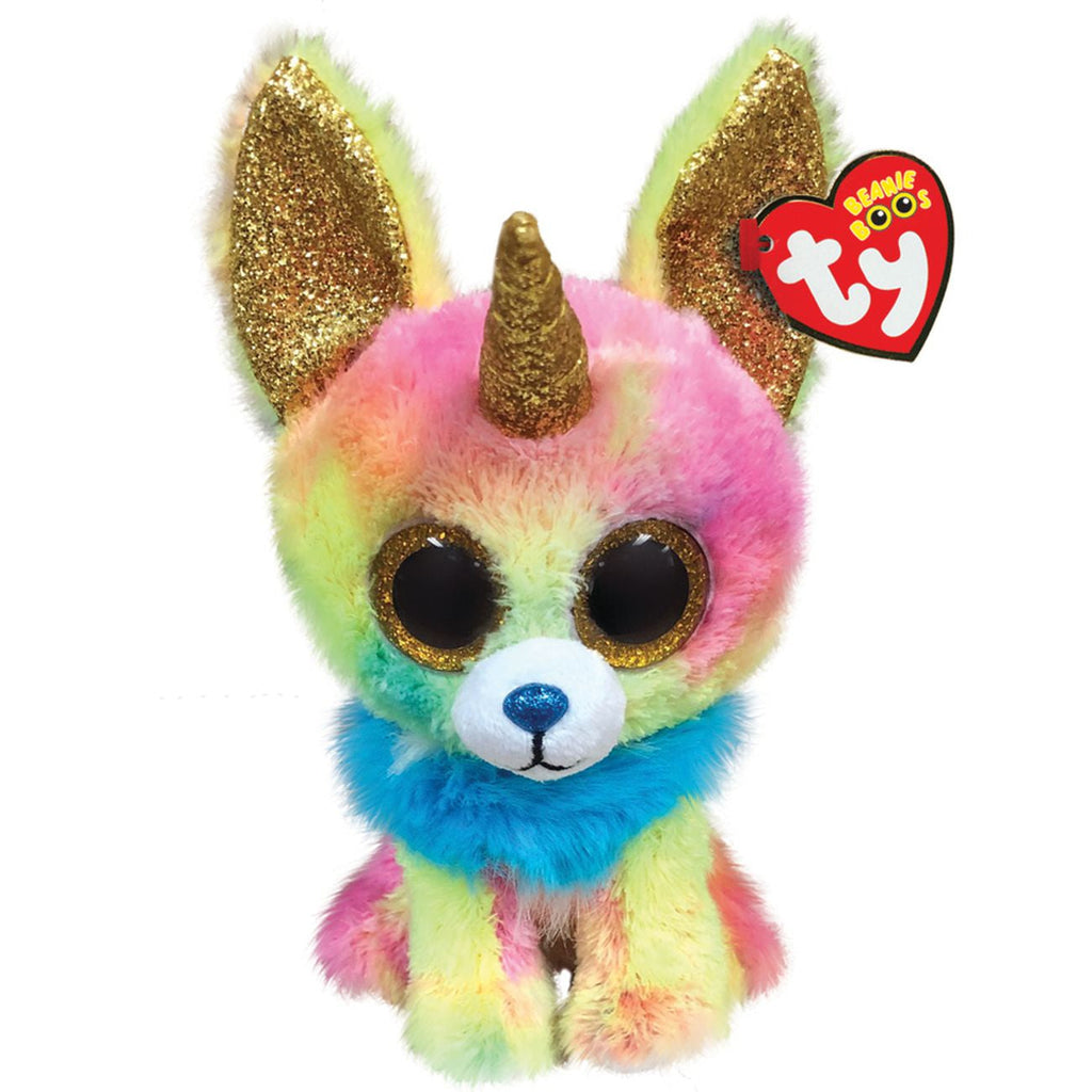 TY BEANIE BOOS YIPS THE CHIHUAHUA WITH HORN MEDIUM - Toyworld NZ