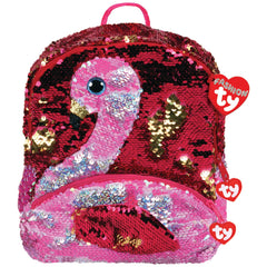 TY FASHION SEQUIN BACKPACK GILDA THE PINK FLAMINGO