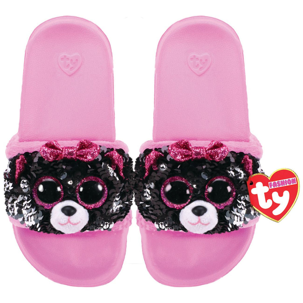 TY FASHION SEQUIN POOL SLIDES M1-3 KIKI THE CAT