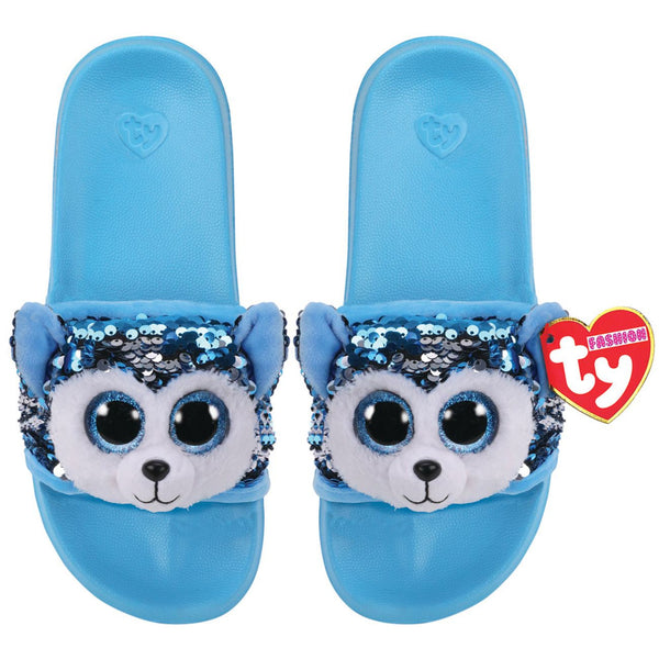 TY FASHION SEQUIN POOL SLIDES M1-3 SLUSH THE DOG