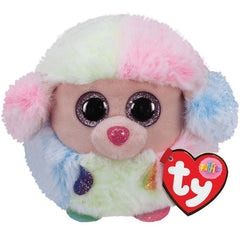 Ty Puffies Rainbow the Multicoloured Poodle - Toyworld