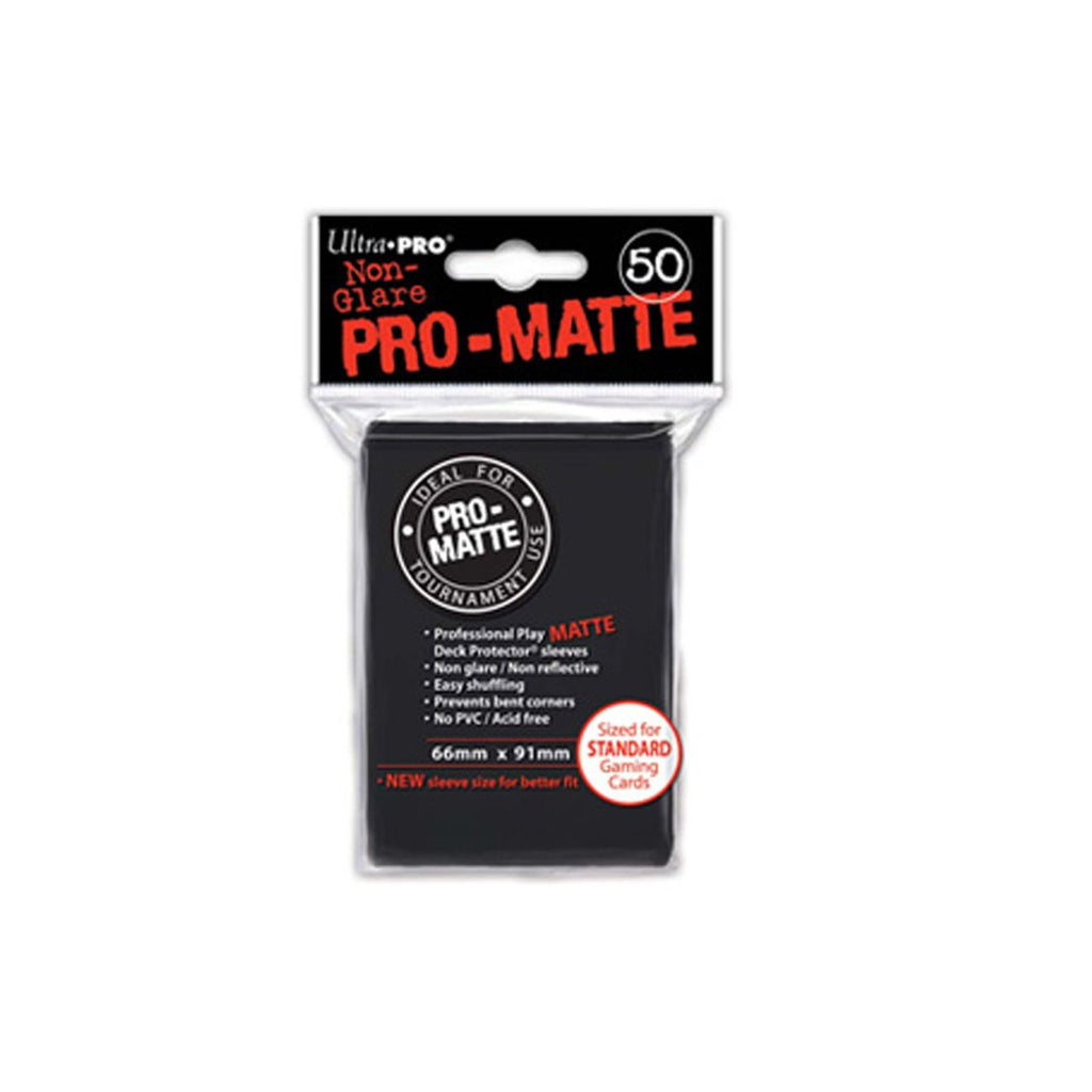 ULTRA PRO MATTE DECK PROTECTOR SLEEVES BLACK 50 PACK