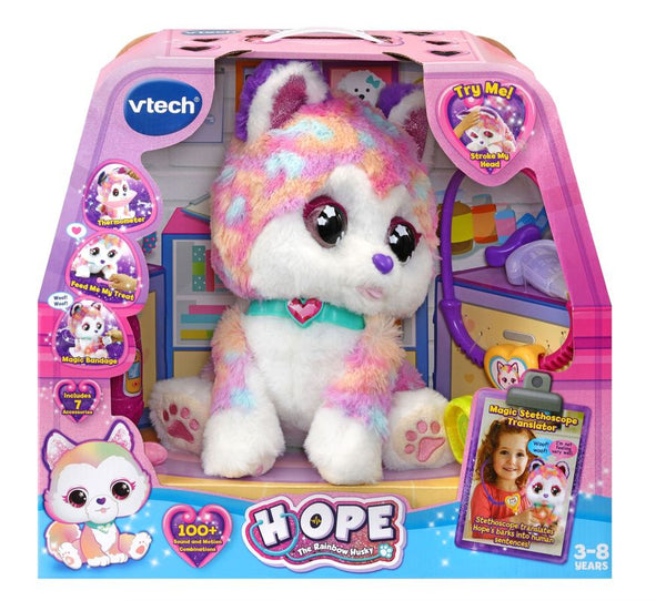 Vtech Hope the Rainbow Husky - Toyworld