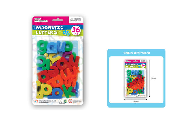 MAGNETIC LETTERS LOWER CASE 36 PCE