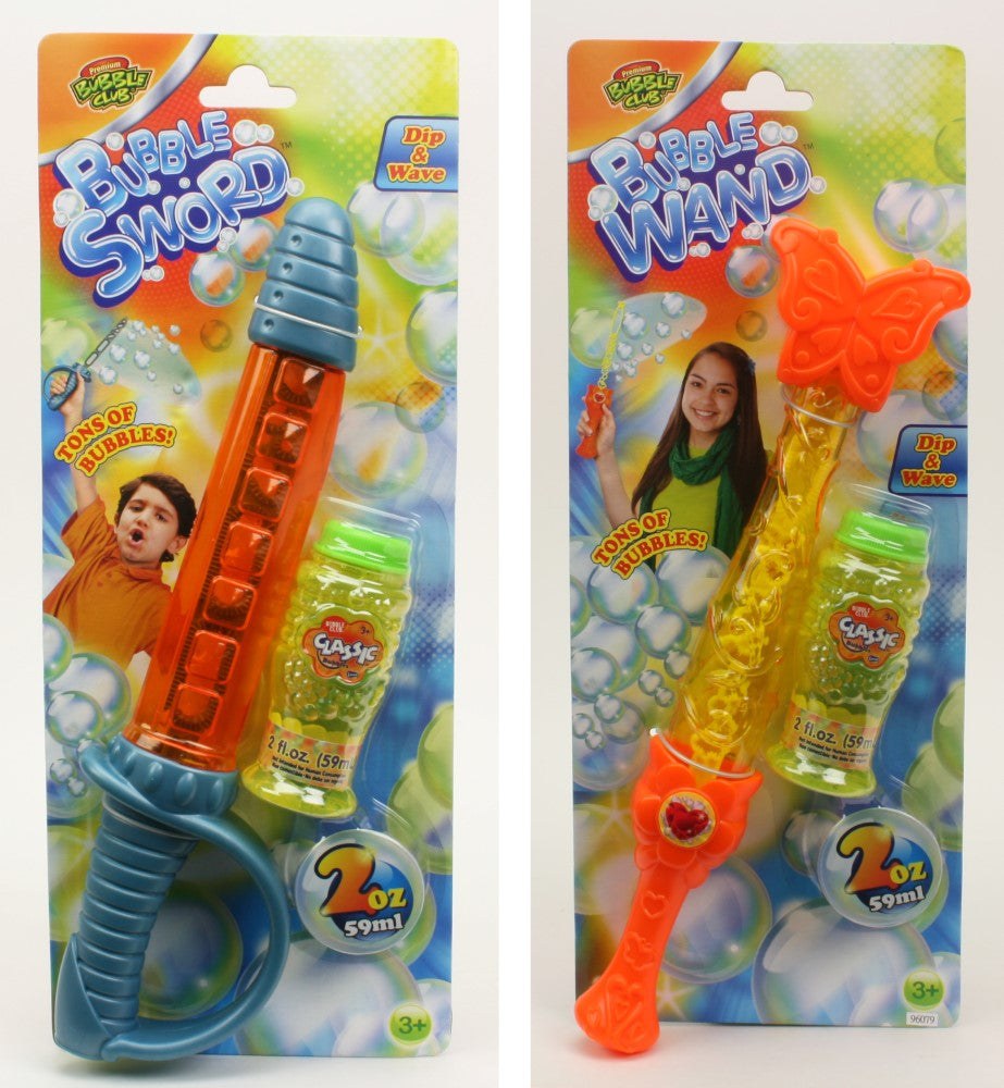 BUBBLE CLUB WAND/SWORD ASSORTED STYLES
