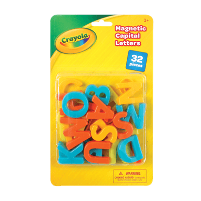 CRAYOLA 32 PIECE MAGNETIC CAPITAL LETTERS (UPPER CASE)