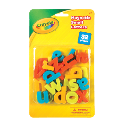 CRAYOLA 32PC MAGNETIC SMALL LETTERS (LOWER CASE)