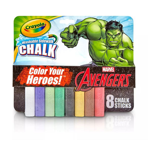 CRAYOLA 8 WASHABLE SIDEWALK CHALK HULK