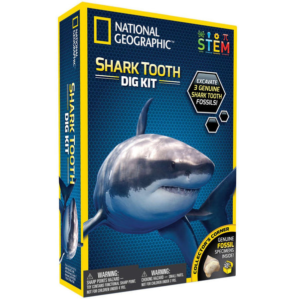 National Geographic Shark Tooth Dig Kit - Toyworld