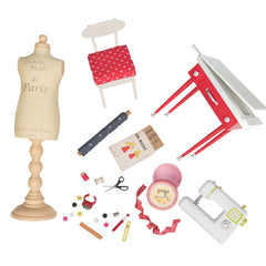 Our Generation Deluxe Accessory Set It Seams Perfect Dressmaking Set Img 1 - Toyworld