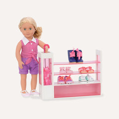 Our Generation Deluxe Accessory Set Sort A Shoe Shoe Rack - Toyworld