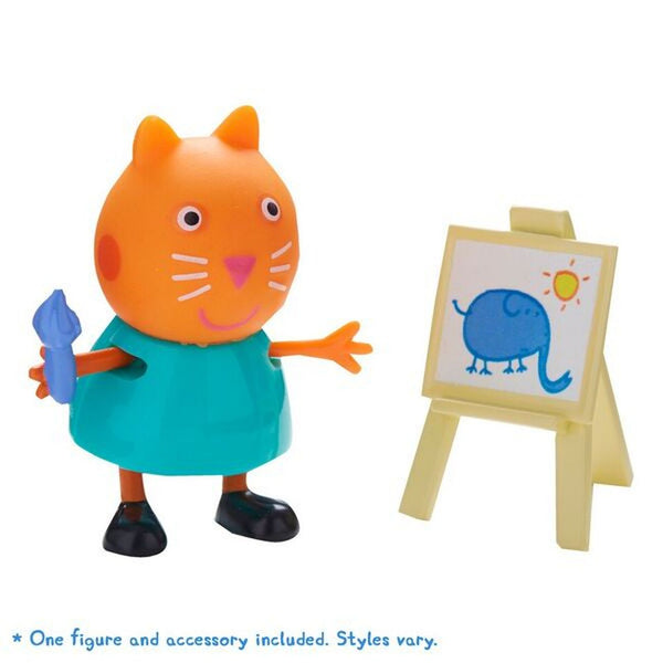PEPPA PIG FIGURE & ACCESSORY CANDY CAT WITH PAINTING EASEL