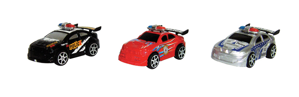 TEAM POWER 9CM POLICE CARS 3PK ASST