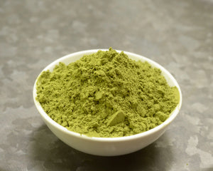 Bowl of SpiceFix fresh Moringa leaf powder