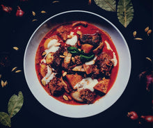 Load image into Gallery viewer, Beef stew made with SpiceFix Kashmiri Chili Powder to give it a brilliant red color