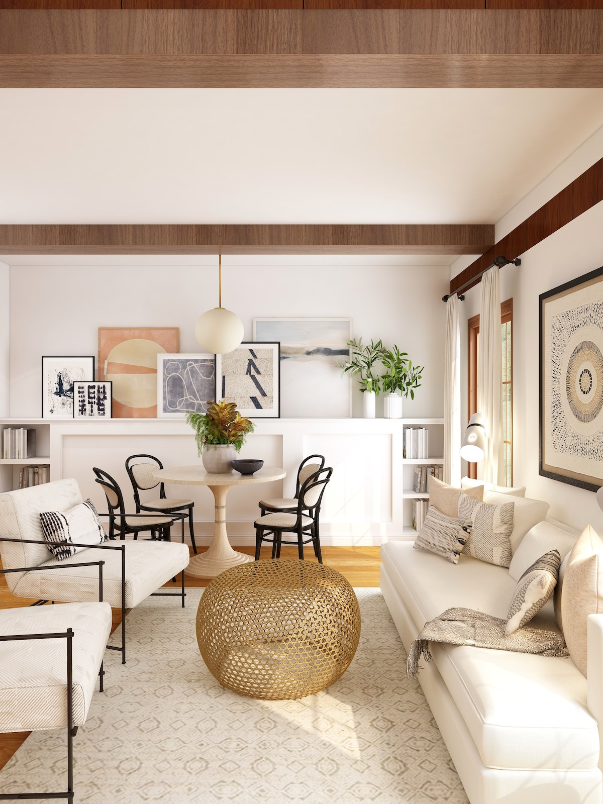 professionally staged living room
