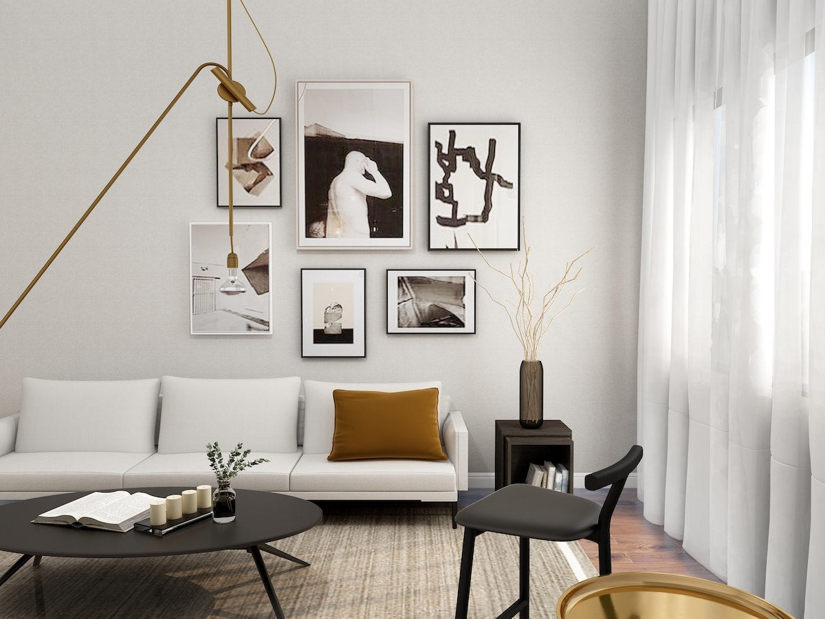 living room staged by professional