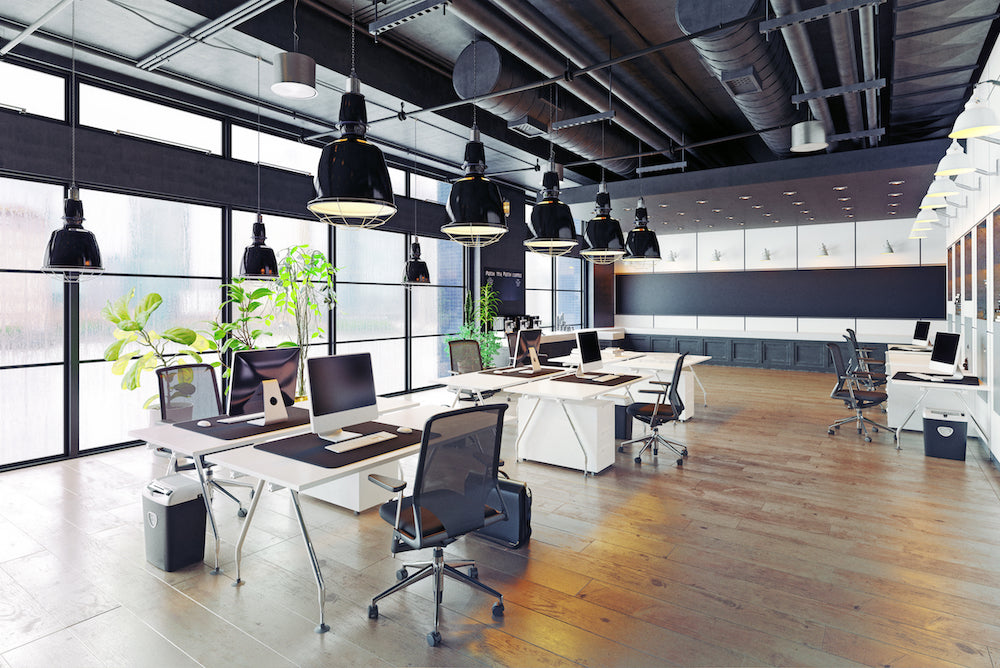office with professionally designed rental furniture