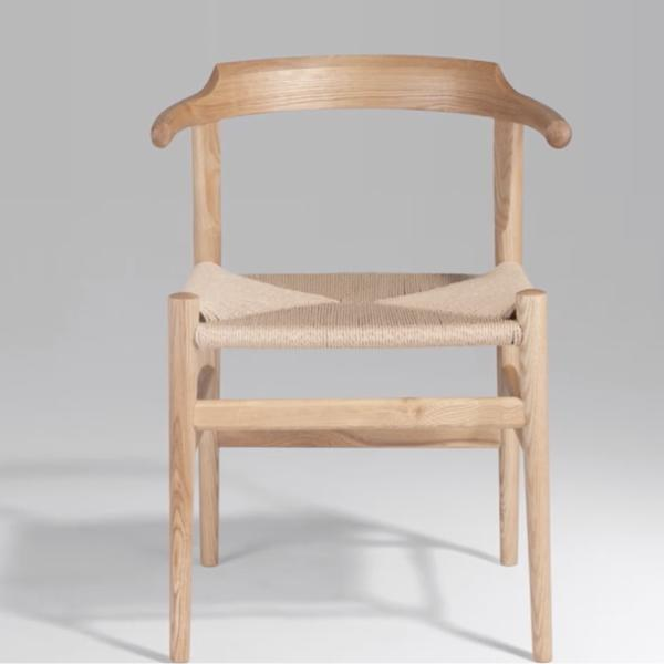 Buy or Rent Athene Oak Wood Armchair from FØERNI Furniture Rental Hong Kong