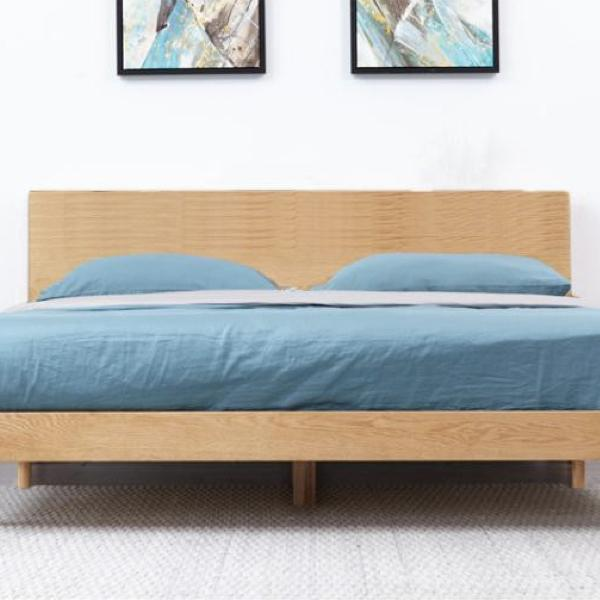 Buy or Rent Bertha Oak Wood Bed from FØERNI Furniture Rental Hong Kong