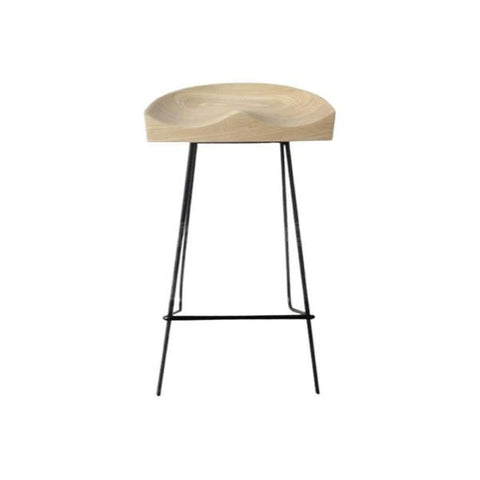 Buy or Rent Helene Ash Wood Bar Stool from FØERNI Furniture Rental Hong Kong